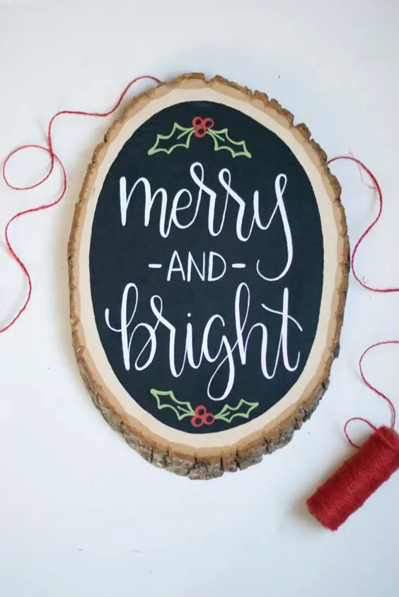Rustic Merry Christmas Signs 25 Rustic Wood Slice Christmas Decor Ideas - Digsdigs