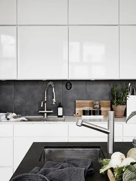 Backsplash For Dark Cabinets And Light Countertops 25 Concrete Kitchen Backsplashes With Pros And Cons - Digsdigs