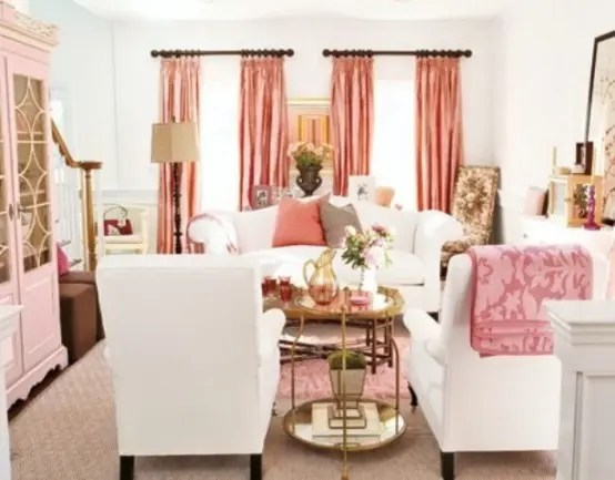 66 Airy And Elegant Feminine Living Rooms