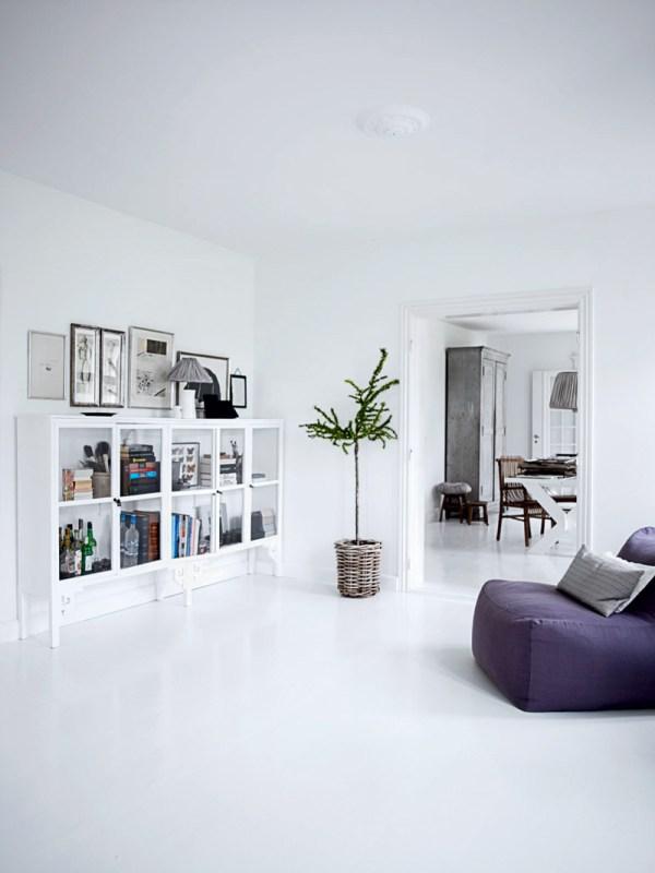 All White Interior Design of the Homewares Designer Home