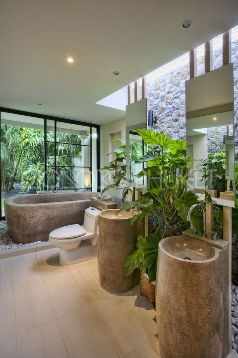 42 Amazing Tropical Bathroom Décor Ideas Digsdigs