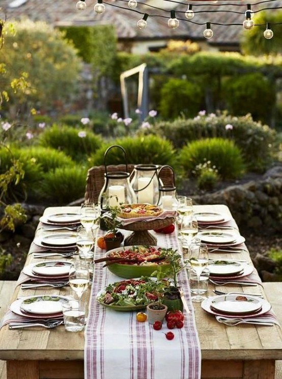 Summer Dining Table Decor 37 Awesome Midsummer Table Settings - Digsdigs