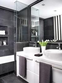 black and grey bathrooms 2017
