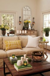 room living summer decor idea decorating decoration yellow neutral cheerful sofa rooms decorations accessories designs inspiration coffee accents ivory country