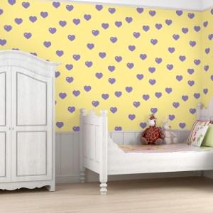 rooms wallpapers colorful patterned wall bedroom paper allison princess digsdigs walls decor nata shatalova source half dot material