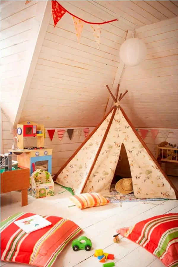 33 Cool Kids Play Rooms With Play Tents Digsdigs