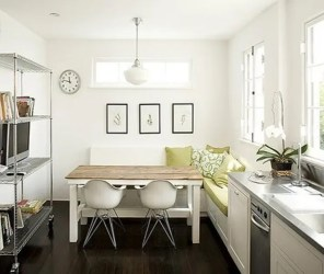kitchen creative table dining spaces digsdigs room kitchens decorating decor area space tiny tables breakfast idea bench layout simple mini