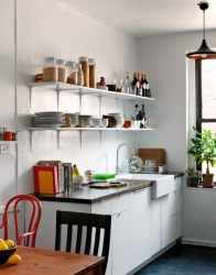 kitchen creative kitchens designs tiny decor decorating simple cozinha dining idea digsdigs simples plans para pequenas prateleiras cabinets kithcen pequena