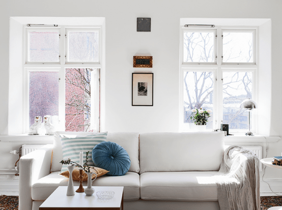 Elegant Scandinavian Apartment With Shabby Chic Touches