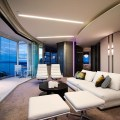 Everything in the apartment follows modern and luxury interior design