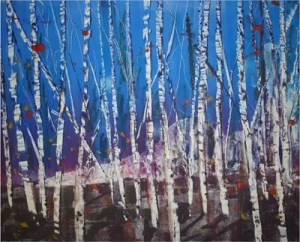 Christine Harrison - Winter Birches Alight