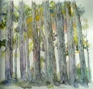 Painting by Julia Skrebels