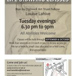 Life Drawing at Fenners, October and September