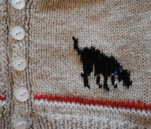 Close up of Labrador design