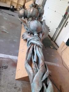Poppy Sculpture before installation