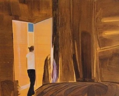 Holly Wisker_Interior (Robyn) 2014_ oil on paper_25x20cm_£75
