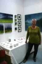 Gill Ayre in her studio