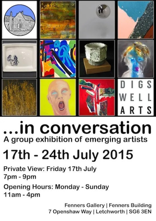 IN CONVERSATION EXHIBITION POSTER