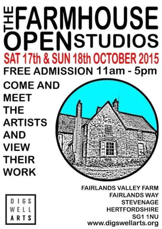 farmhouse open studio poster oct 2015