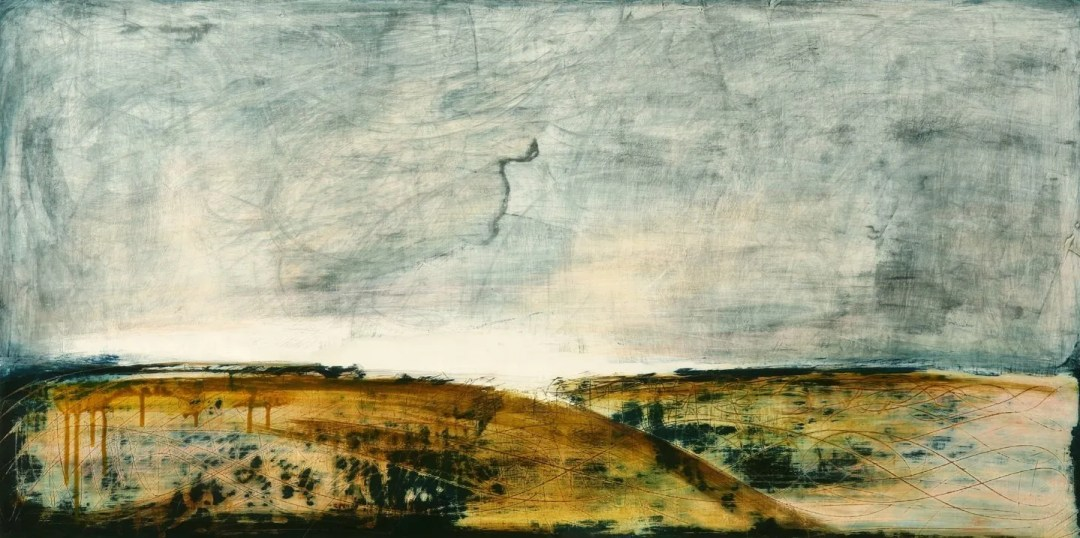 Wet Morning 100 x 50cm ink and gesso on board 2015