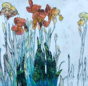 Anna Perlin : Irises orange