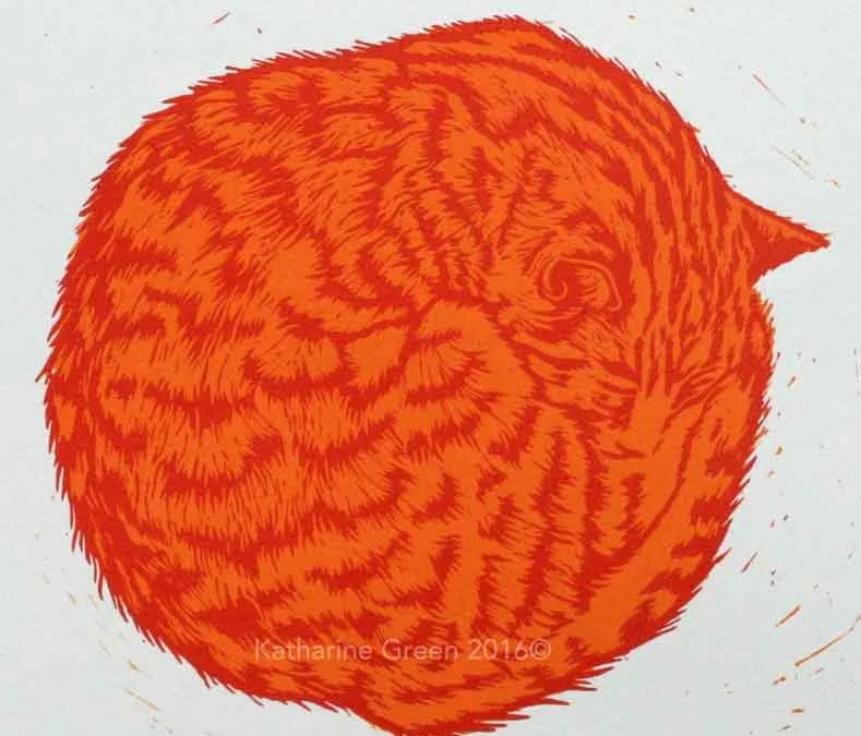 Weekend colour linoprint workshop using multiple blocks