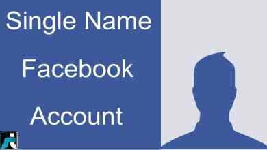 how to make single name on facebook