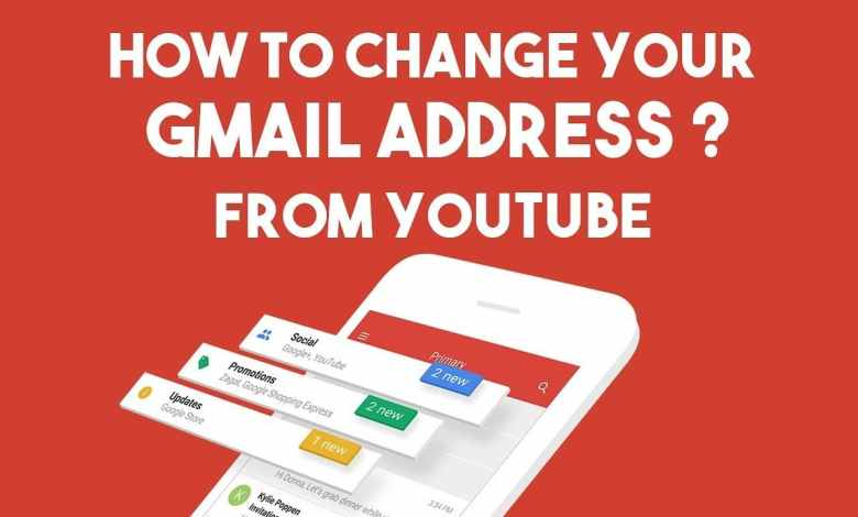 change youtube email