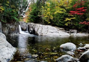 Rocky Falls - must-see Fall foliage waterfalls in the Adirondacks!