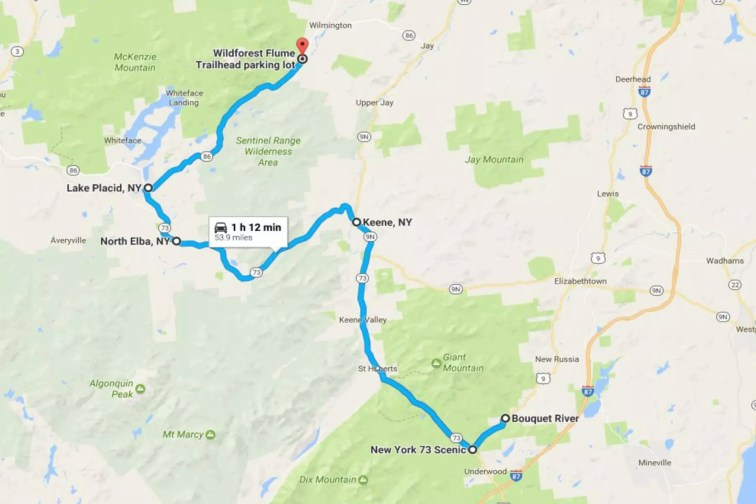 Waterfall Roadtrip Map