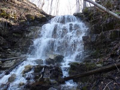 Oxbow Falls County Park Waterfall #3, Canastota, Lincoln Town, Madison County, New York