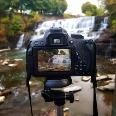 Glen Falls as seen through a camera
