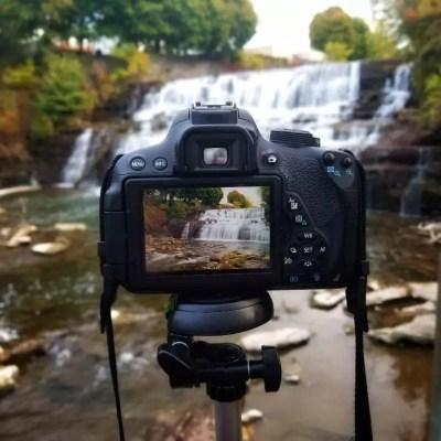 Glen Falls as seen through a camera