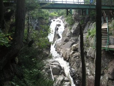 Rainbow Falls in High Falls Gorge, Essex County, New York