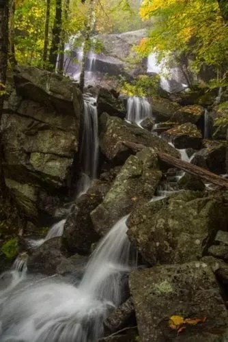 Secluded Cascade, adirondack waterfall, rocks, trees