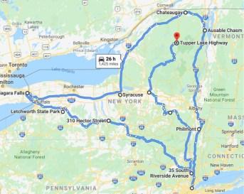 New York State Waterfall map
