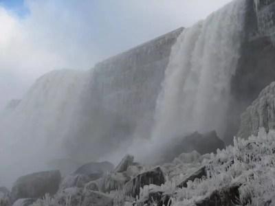 Bridal Veil Falls at Niagara Falls, New York 12-4-2007
