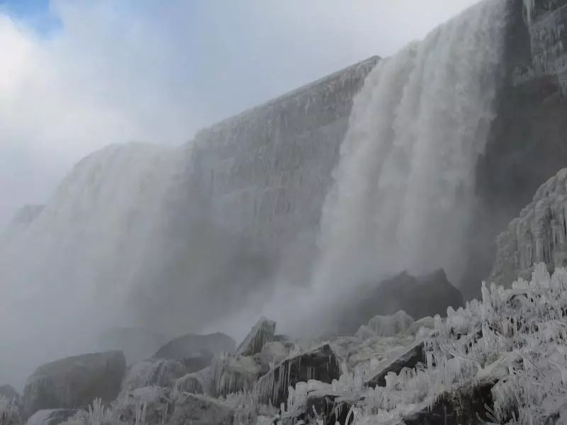 Bridal Veil Falls at Niagara Falls, New York 12-4-2007