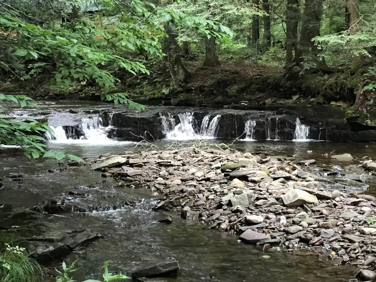 Line Brook State Forest, waterfalls in 9-11-2017