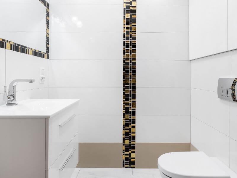 Bathroom renovation bold tiles