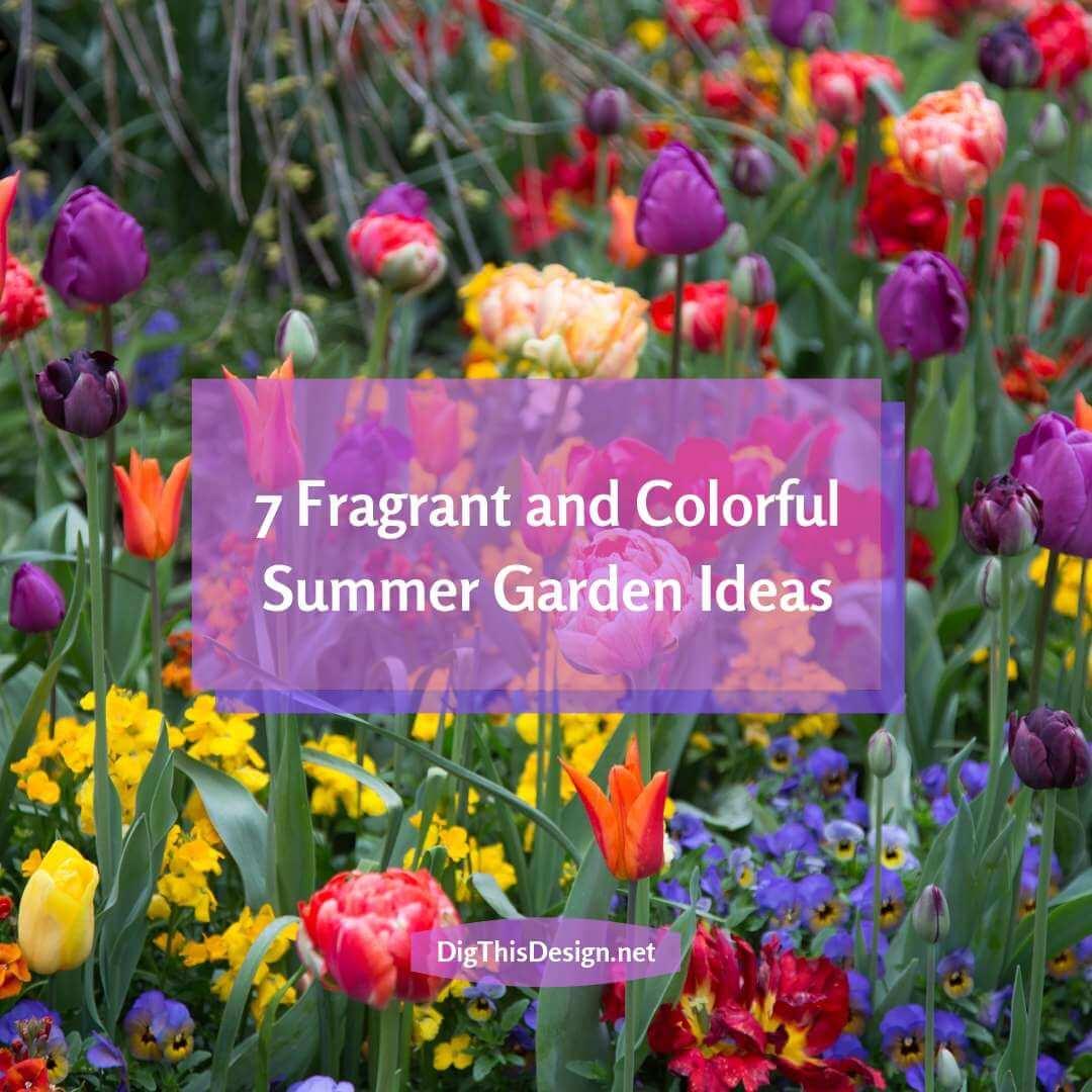 Easy Colorful Summer Garden Ideas