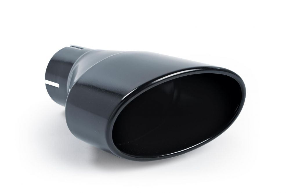 cerakote black jet oval 152 x 76 exhaust tip rh mstip206