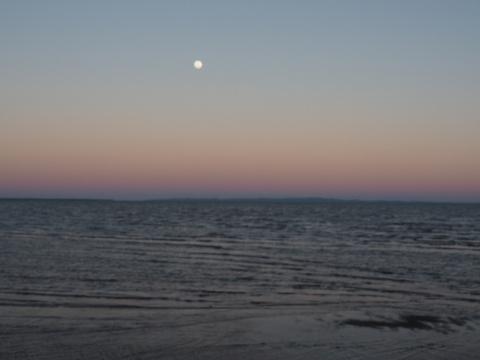 Moon over Bribie Island