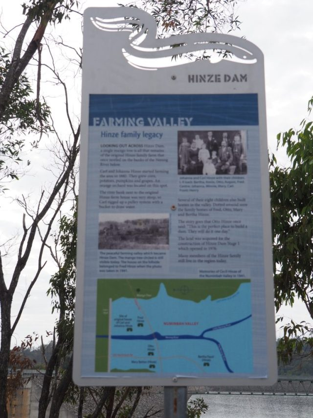 The History of the Hinze family on whose land the Dam was built.