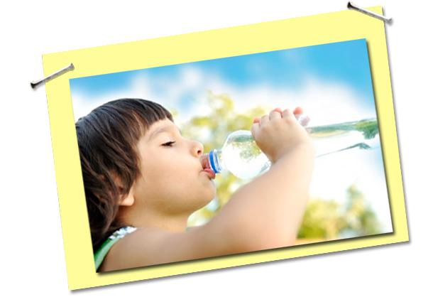 Seu filho bebe água?
