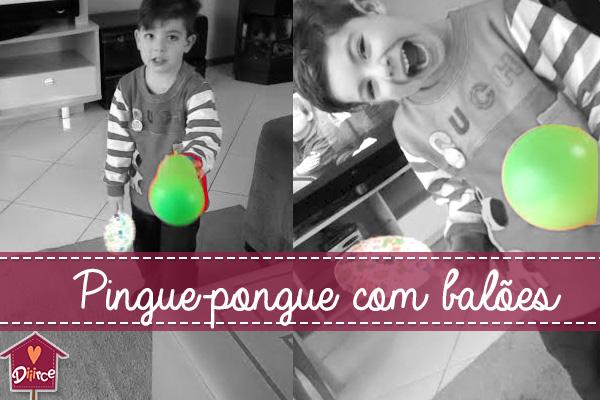 Ping-pong com balões: uma brincadeira com o que sobrou da festa