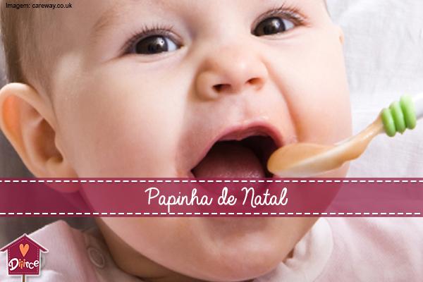 4 Receitas de Papinha de Natal para Bebês