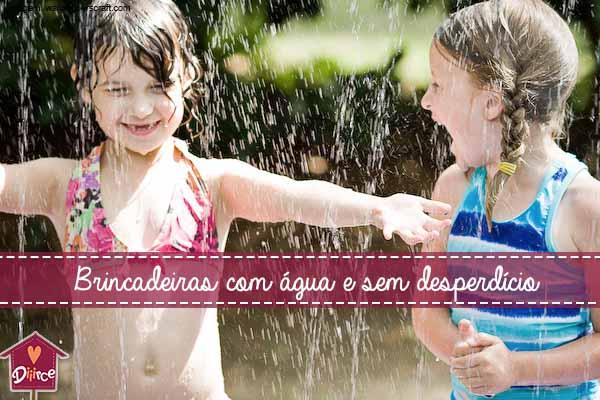Brincadeiras com água para refrescar sem desperdício!