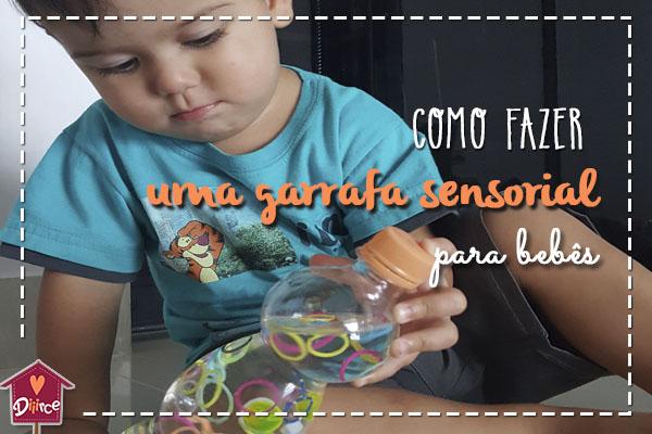 Aprenda a fazer uma Garrafa Sensorial para seu bebê