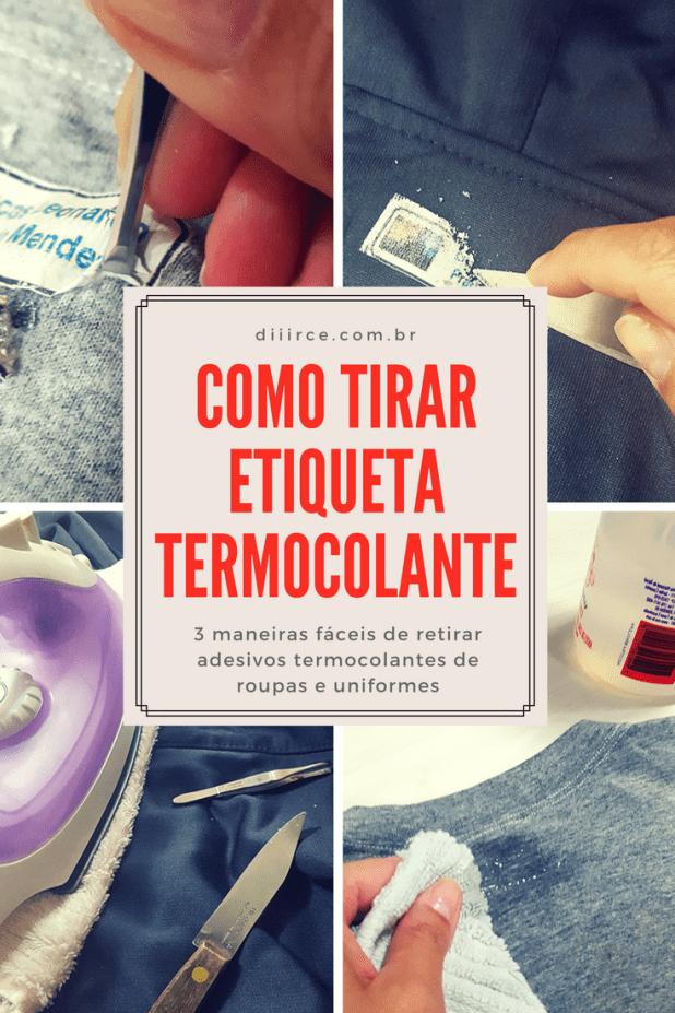 como tirar etiqueta termocolante de roupas e uniformes